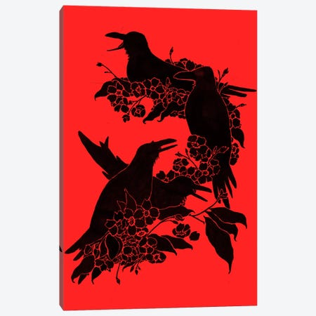 A Feast For Crows Canvas Print #TFA108} by Tobias Fonseca Canvas Artwork