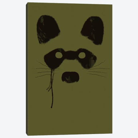 Raccoon Canvas Print #TFA10} by Tobias Fonseca Art Print
