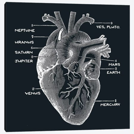 Astro Heart Canvas Print #TFA113} by Tobias Fonseca Canvas Art Print