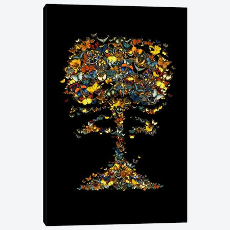 Atomic Butterfly Canvas Print #TFA114} by Tobias Fonseca Canvas Artwork