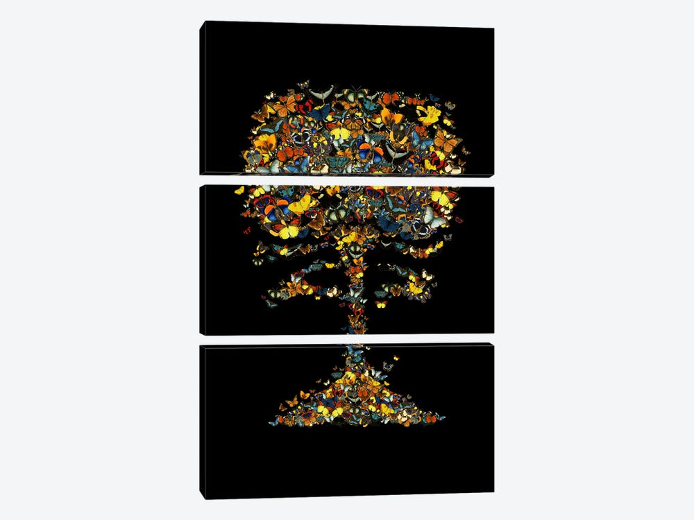 Atomic Butterfly by Tobias Fonseca 3-piece Art Print