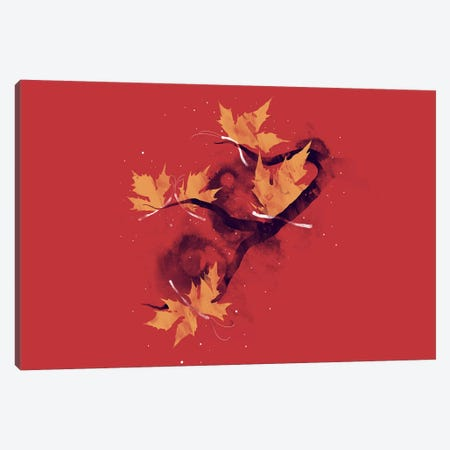 Autumn Butterflies Canvas Print #TFA115} by Tobias Fonseca Canvas Art