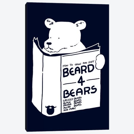 Beard For Bears Canvas Print #TFA118} by Tobias Fonseca Canvas Art Print