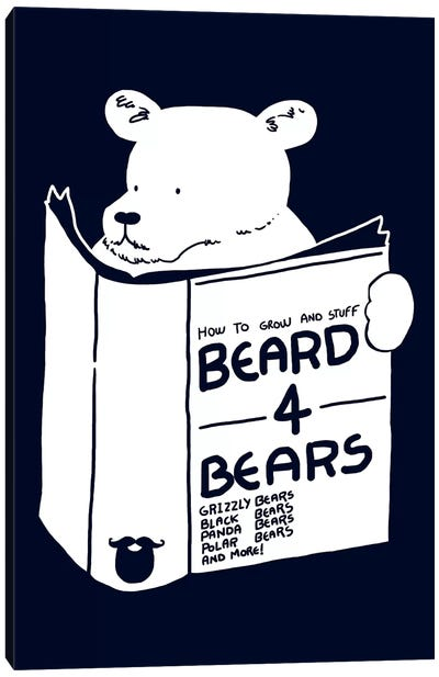 Beard For Bears Canvas Print #TFA118