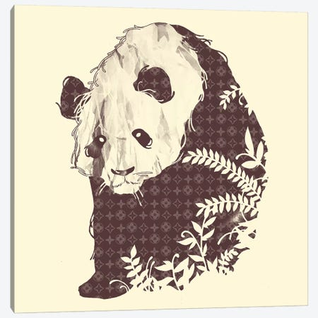 Brand New Panda Canvas Print #TFA120} by Tobias Fonseca Canvas Artwork