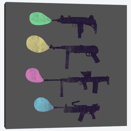 Bubble Gun Canvas Print #TFA122} by Tobias Fonseca Canvas Art