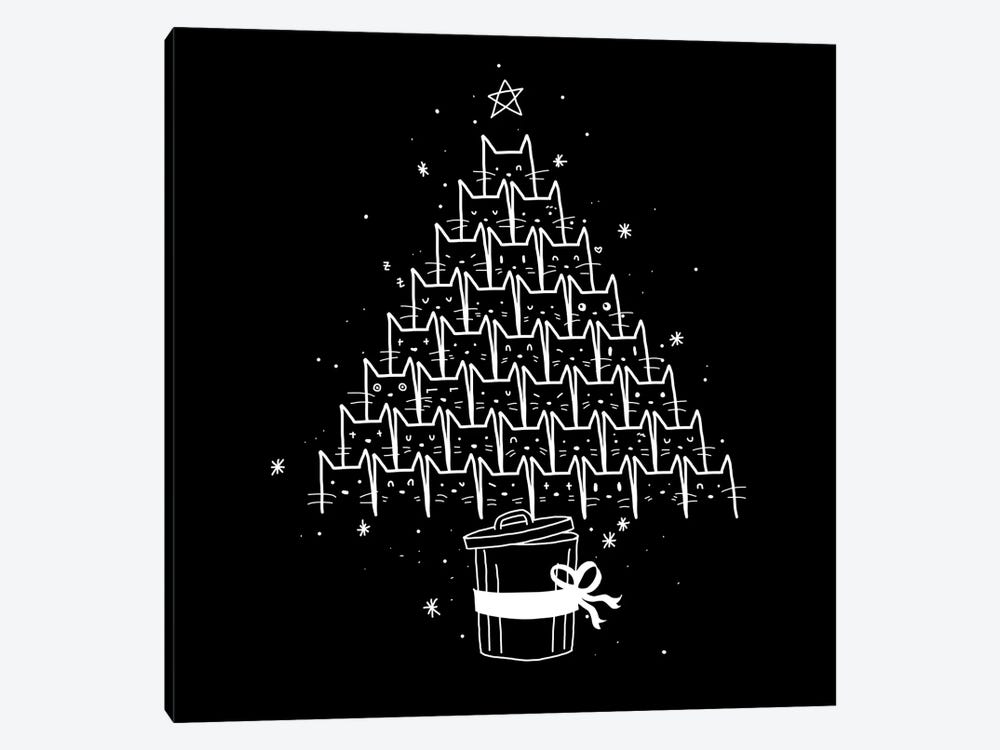 Cat X-mas by Tobias Fonseca 1-piece Canvas Art Print