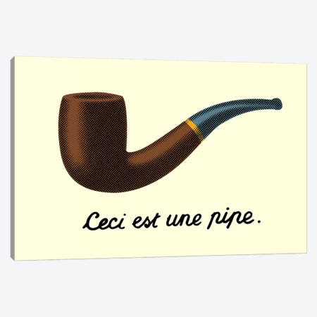 Ceci est une Pipe Canvas Print #TFA125} by Tobias Fonseca Canvas Art Print
