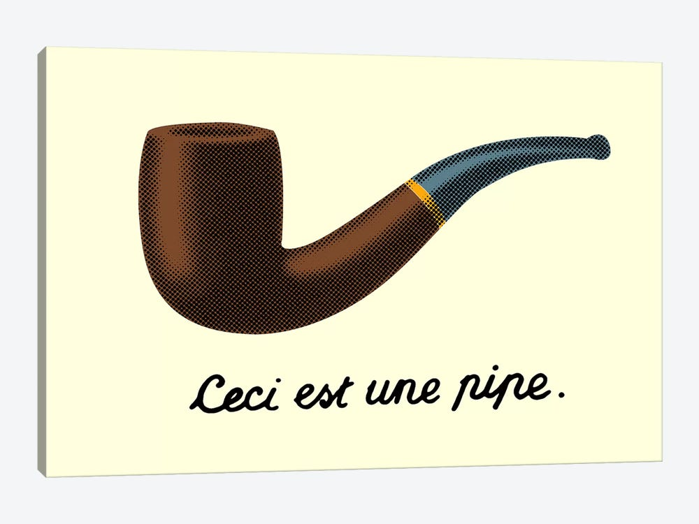 Ceci est une Pipe by Tobias Fonseca 1-piece Canvas Print