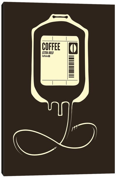 Coffee Transfusion Canvas Art Print
