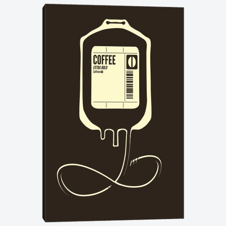 Coffee Transfusion Canvas Print #TFA129} by Tobias Fonseca Canvas Art