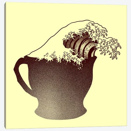 Coffee Wave Canvas Print #TFA130} by Tobias Fonseca Canvas Print