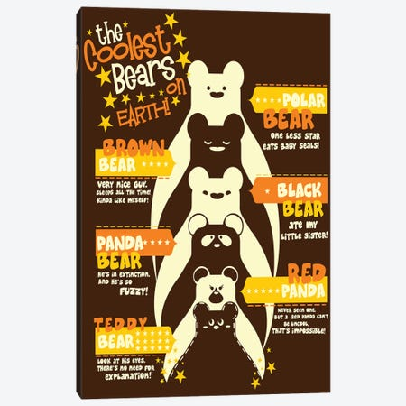 Coolest Bear Canvas Print #TFA132} by Tobias Fonseca Canvas Art Print