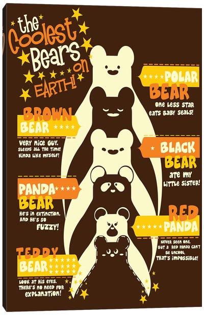 Coolest Bear Canvas Print #TFA132