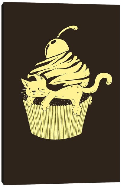 Cupcat Cutecake Canvas Art Print