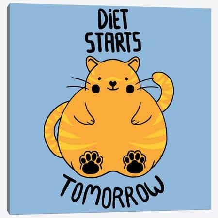 Diet Starts Tomorrow Canvas Print #TFA136} by Tobias Fonseca Canvas Art