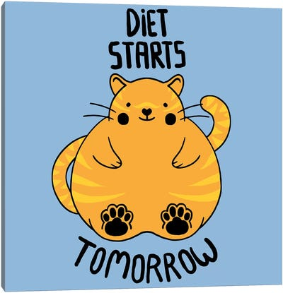 Diet Starts Tomorrow Canvas Art Print