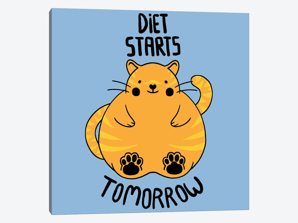 Diet Starts Tomorrow by Tobias Fonseca 1-piece Art Print