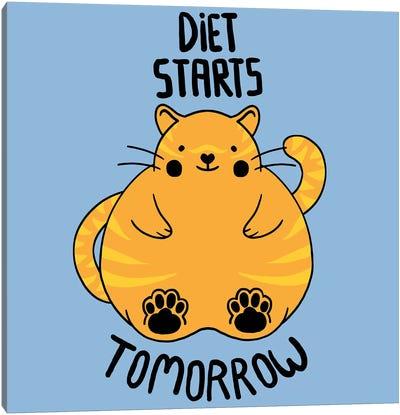 Diet Starts Tomorrow Canvas Art Print