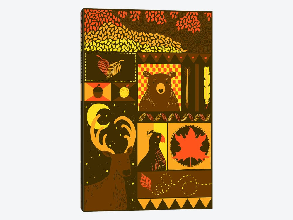 Fall Rectangle by Tobias Fonseca 1-piece Canvas Artwork