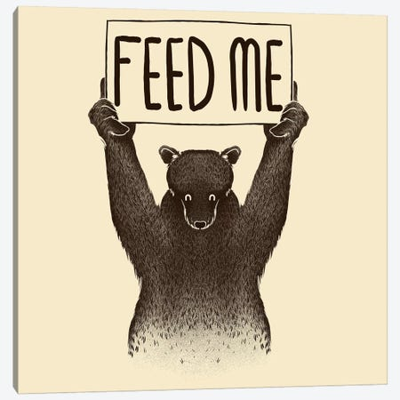 Feed Me Bear Canvas Print #TFA150} by Tobias Fonseca Canvas Art Print