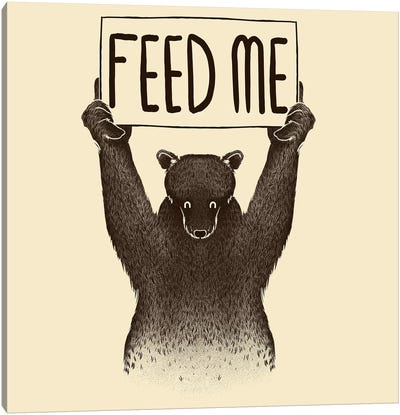 Feed Me Bear Canvas Print #TFA150