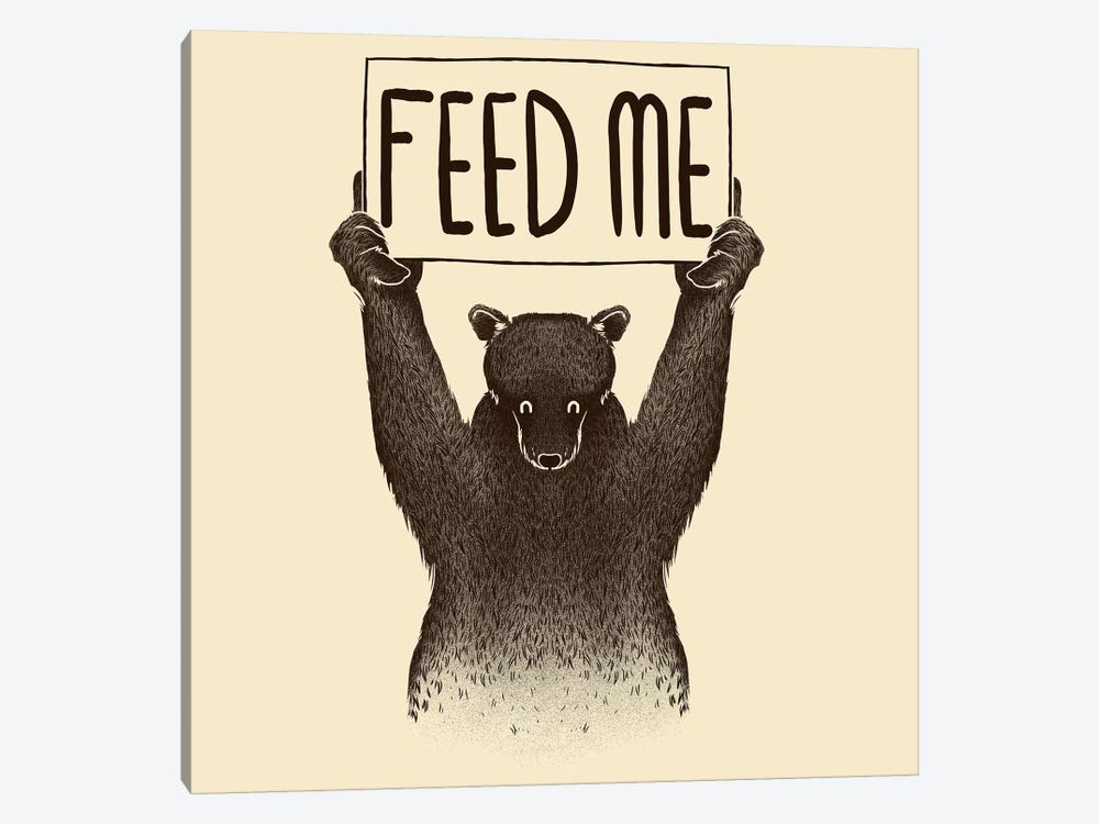 Feed Me Bear by Tobias Fonseca 1-piece Canvas Print