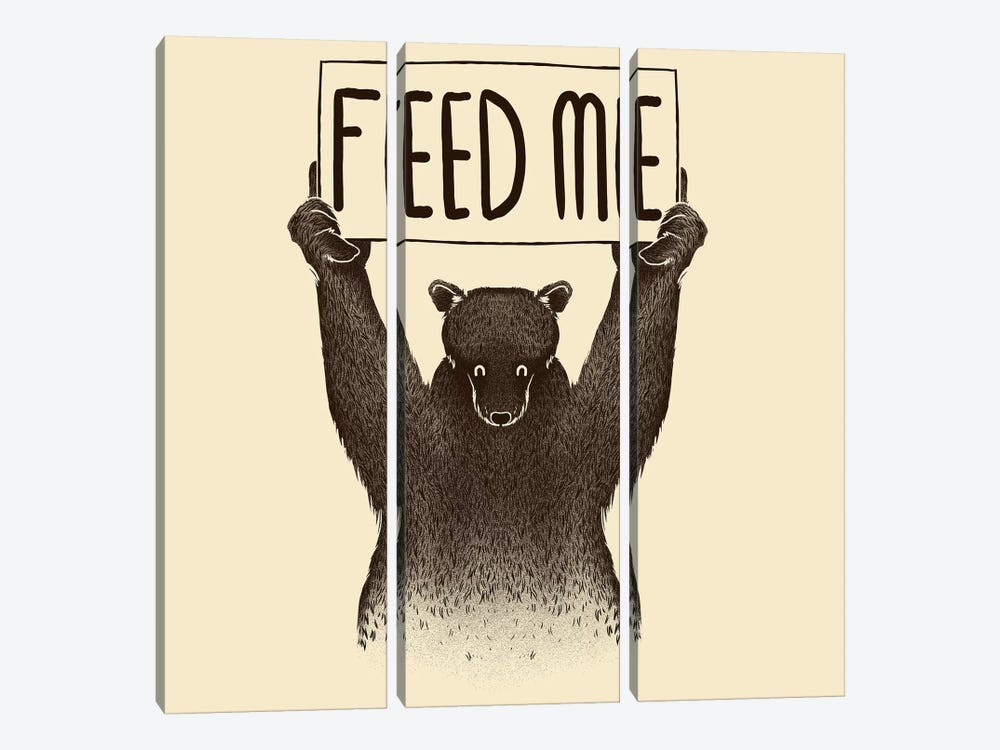 Feed Me Bear by Tobias Fonseca 3-piece Canvas Print