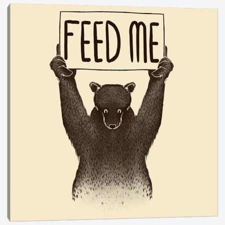 Feed Me Bear Canvas Print #TFA150} by Tobias Fonseca Canvas Art Print