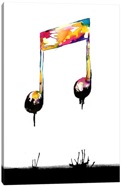 Feelings Behind The Darkness Canvas Art Print