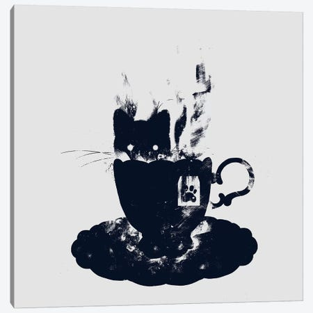Having Tea With My Lovely Cat Canvas Print #TFA163} by Tobias Fonseca Canvas Wall Art