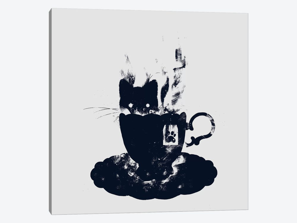 Having Tea With My Lovely Cat by Tobias Fonseca 1-piece Canvas Print