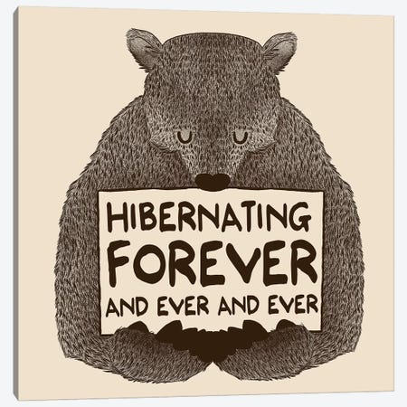 Hibernating Forever Canvas Print #TFA164} by Tobias Fonseca Art Print