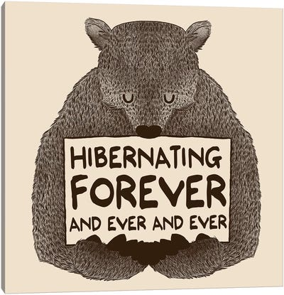 Hibernating Forever Canvas Art Print