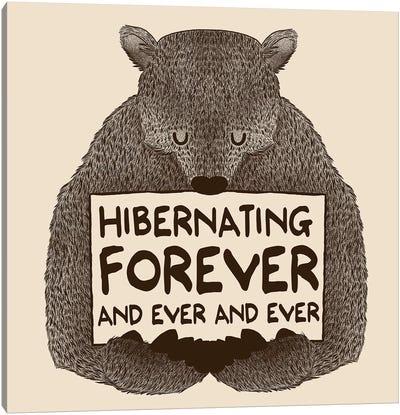 Hibernating Forever Canvas Art Print