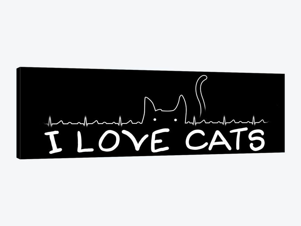 I Love Cats by Tobias Fonseca 1-piece Art Print