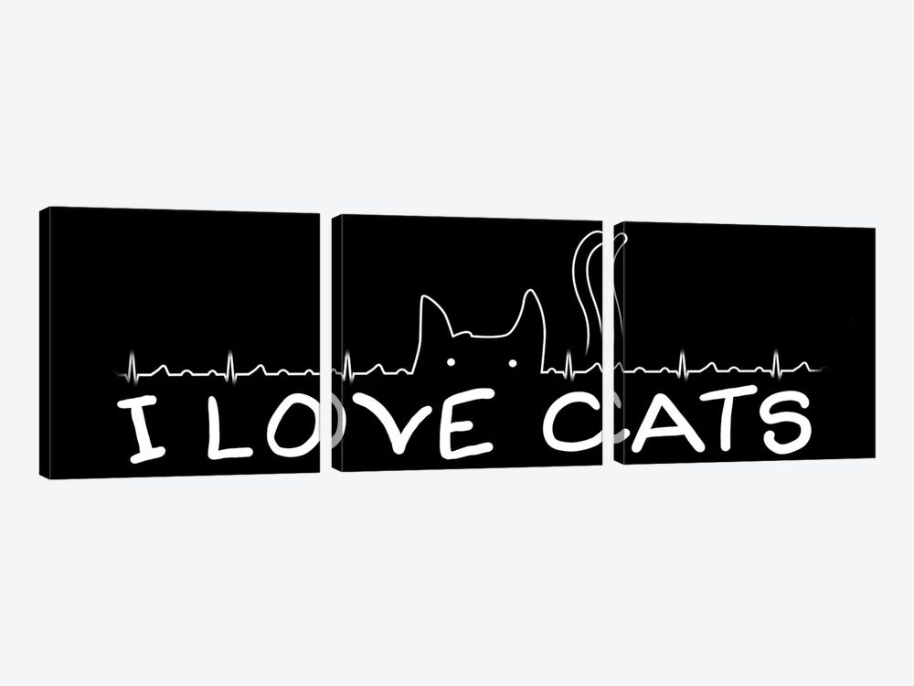 I Love Cats by Tobias Fonseca 3-piece Art Print