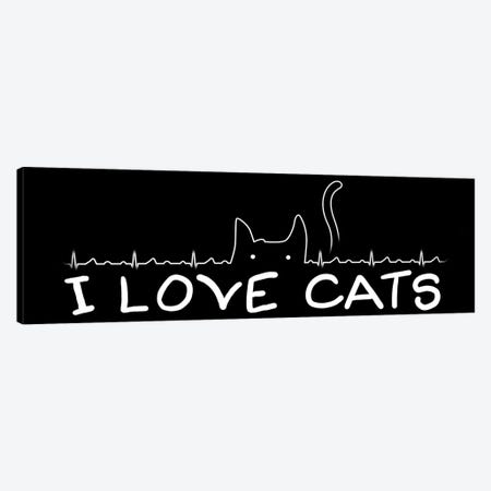 I Love Cats Canvas Print #TFA169} by Tobias Fonseca Canvas Art