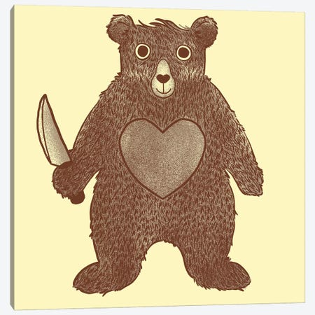 I Love You Bear Canvas Print #TFA170} by Tobias Fonseca Canvas Art Print