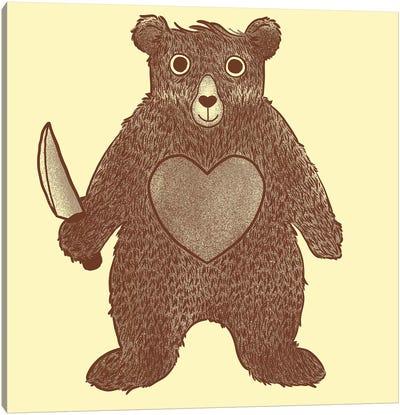 I Love You Bear Canvas Art Print