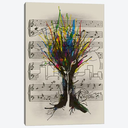 Ink Chord Canvas Print #TFA178} by Tobias Fonseca Canvas Art Print