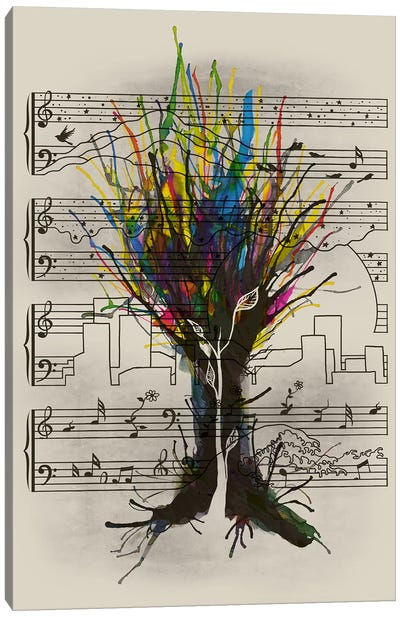 Ink Chord Canvas Print #TFA178
