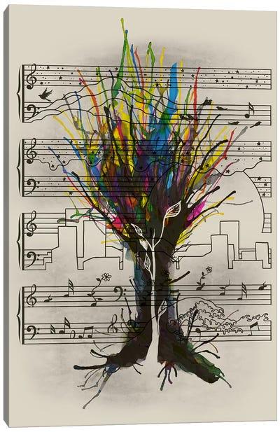 Ink Chord Canvas Art Print