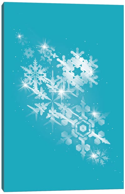 Snow Flakes Of Hope Canvas Art Print
