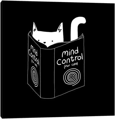 Mind Control For Cats Canvas Art Print