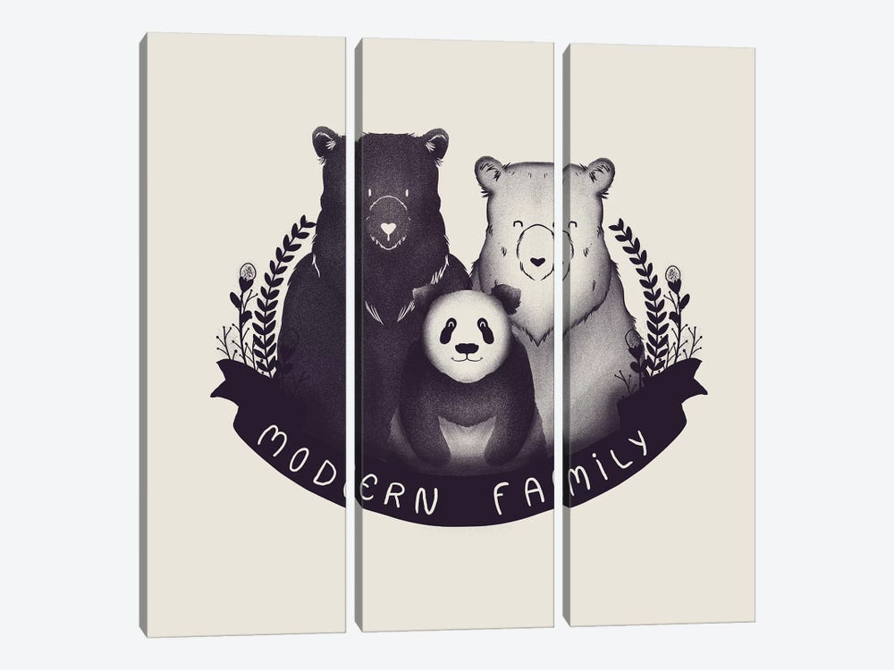 Modern Family by Tobias Fonseca 3-piece Canvas Wall Art