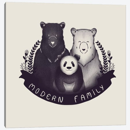 Modern Family Canvas Print #TFA197} by Tobias Fonseca Canvas Artwork