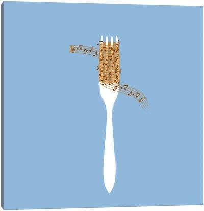 Music Spaghetti Canvas Art Print