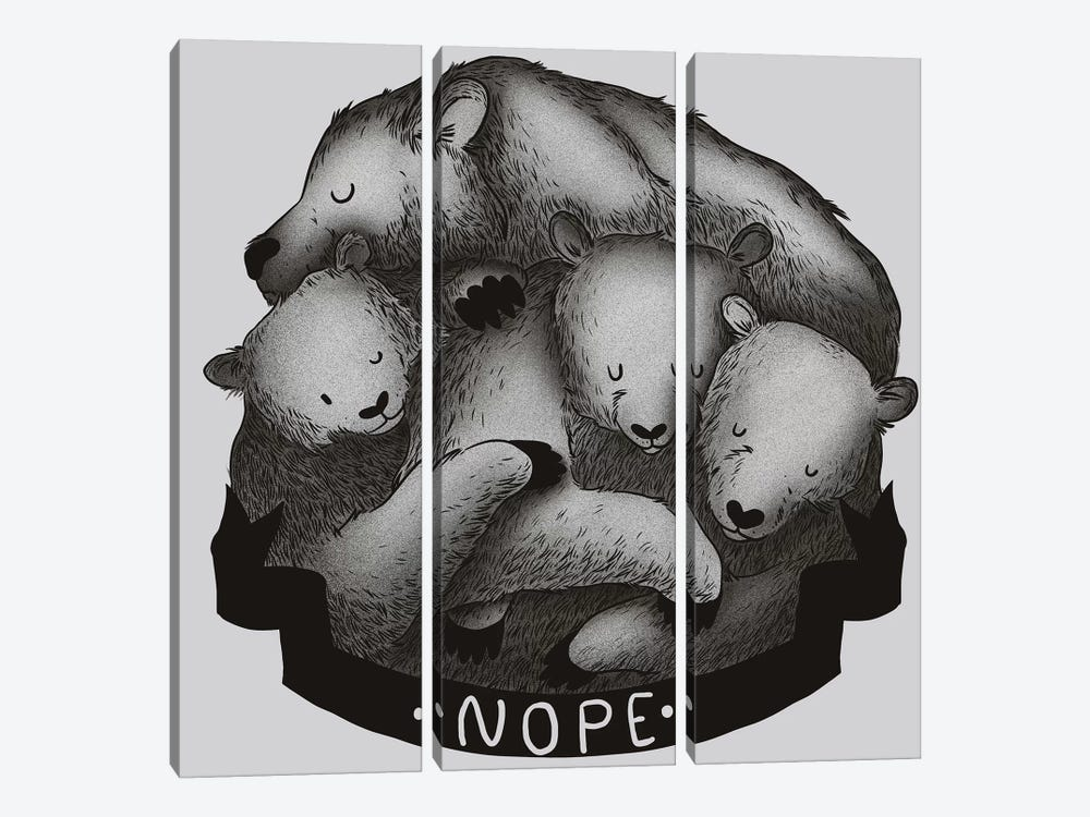 Nope by Tobias Fonseca 3-piece Canvas Print