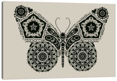 Ornamental Butterfly Canvas Art Print